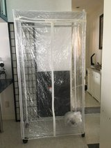 Very strong portable metal closet with plastic cover in Okinawa, Japan