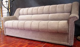 Nice Beige Couch with Storage Compartment in Ramstein, Germany