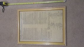 Historical Replica Documents in Frames in Okinawa, Japan