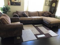 couch, chair and carpet in Morris, Illinois