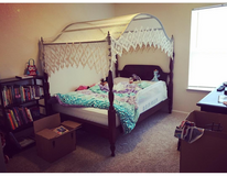 REAL CHERRY WOOD DOUBLE/FULL CANOPY BED in Bolling AFB, DC