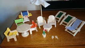 Plan Toy Doll House Patio Furniture. 2 sets. in Baytown, Texas