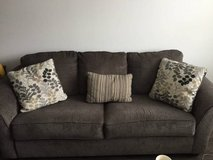 Couch - Ashley Furniture charcoal couch, like new in Temecula, California