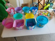 10 easter baskets and plastic eggs in Watertown, New York