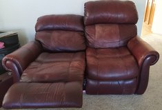 Recliner Love seat Read Leather in Travis AFB, California