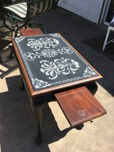 Unique side table in St. Charles, Illinois