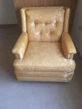 Pair of Yellow Brocade Chairs in Glendale Heights, Illinois