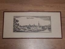 Copper Engraving Print of Historic Sindelfingen in Stuttgart, GE