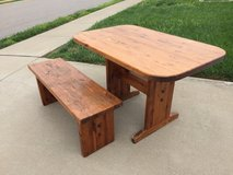Solid Wood Table & Bench in Clarksville, Tennessee