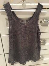 Allison Joy Tank in Gray- Lace. Size Small in Chicago, Illinois