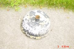 Old Concrete Patio Umbrella Base around 25lbs. in Glendale Heights, Illinois