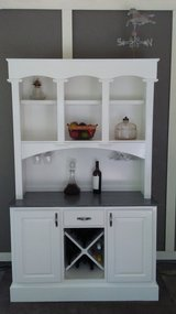 2 piece solid wood liquor cabinet Bar wine hutch in Cleveland, Texas