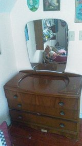 Antique art deco dresser w/ mirror in Houston, Texas
