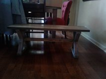 Wooden bench from Kirkland in Naperville, Illinois