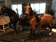 "Battat horses 2 ..20"" black and brown great cond in Warner Robins, Georgia"