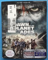 Blu-Ray + Digital HD DAWN of The Planet Of The Apes  Played ONCE in Fort Campbell, Kentucky