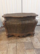 brown wicker table chest in Wheaton, Illinois