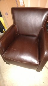 Brown blended leather arm chair in Glendale Heights, Illinois
