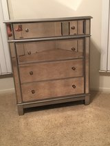 4-drawer mirrored dresser (by Pier One) in Bellaire, Texas