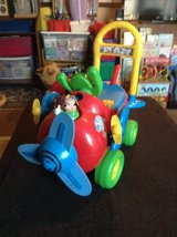 KIDS AIRPLANE RIDE ON DISNEY MICKEY MOUSE LIGHT AND SOUNS FUN RIDING TOY PLANE in Vacaville, California