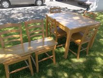 Vintage 1940s Solid Table/Chair Set + 2 Table Leaves in Brookfield, Wisconsin