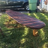 Surfboard  bench in Camp Pendleton, California