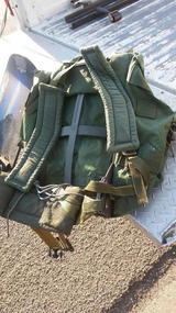 Military field pack in Fort Riley, Kansas