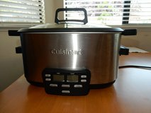 Cuisinart 3in1 slow coocker, steamer, brown, keep warm in Travis AFB, California