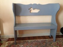Hand made bench with duck cut out. in Camp Lejeune, North Carolina