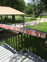 Porch Sign in Houston, Texas