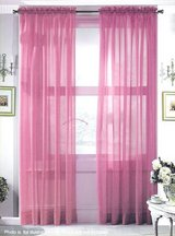 Assorted Colors Rod Pocket Hi Count Voile Curtain Panel 60 Inch WIDE x 90 Inch Long Made in USA in Wilmington, North Carolina