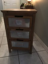 Galvanized 3 drawer shelf in Pearland, Texas