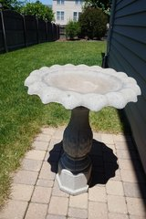 Scalloped Stone Bird Bath in Shorewood, Illinois