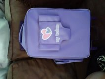 Purple kids suitcase with doll holder good condition in Fairfield, California