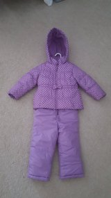 Girls 4t OshKosh Purple Snow coat and pants in Bartlett, Illinois