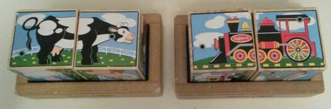 2 Melissa and Doug sound block puzzles in Fort Campbell, Kentucky