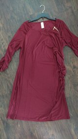 1X cranberry dress. Beautiful. Gold.zipper accent. Brand new in Naperville, Illinois