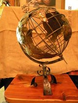 Handcrafted Metal Globe on stand in Kingwood, Texas