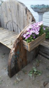 Hand crafted wooden benches in Lawton, Oklahoma