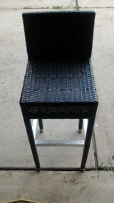 "Black Woven Bar Stool 15""x30""x40"" in Kingwood, Texas"