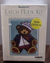 NEW CARON WonderArt Sailor Bear Latch Hook Kit in Houston, Texas