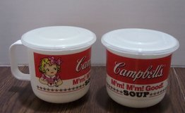 Vintage Pair Collectible Campbell's Soup Mugs  w/Lids in Kingwood, Texas
