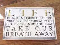 House Parts Inc. Life Breath Away Quote Marble Sign Inspirational Picture in Chicago, Illinois