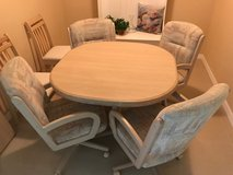 Dining table w/ extension and 6 chairs in MacDill AFB, FL