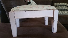 Vintage footstool in Yucca Valley, California