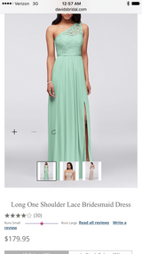 David's bridal mint green bridesmaid dress! 4 in Fort Campbell, Kentucky