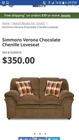 Brand new Simmons chenille loveseat in Warner Robins, Georgia