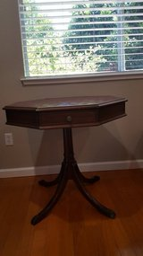 Octagon Table w/Leather Top Circa 1940's in Vacaville, California