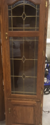 Matching Leaded Glass Shelves in Glendale Heights, Illinois