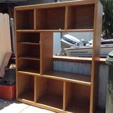 OAK ENTERTAINMENT CENTER/SHELVES UNIT in Fairfield, California